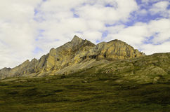 Rugged golden mountain Stock Photography