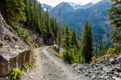 Rugged High Mountain Road Stock Photography