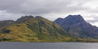 Rugged Hills in Glacial Fjords Stock Image
