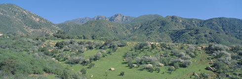 Rugged hills in Upper Ojai Valley, Royalty Free Stock Photography
