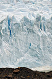 Rugged ice wall of Glacier Perito Moreno Stock Images
