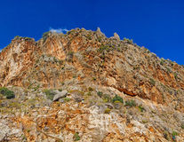 Rugged island mountain Royalty Free Stock Images