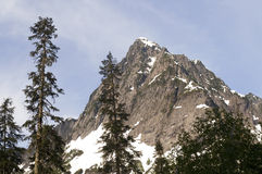 Rugged Jagged Peak North Cascade Mountain Range Washington State Royalty Free Stock Image