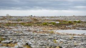 Rugged landscape of Burren in Ireland. The rugged landscape of Burren in Ireland Stock Photos