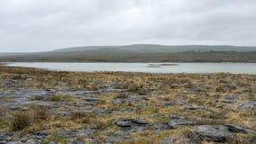 Rugged landscape of Burren in Ireland. The rugged landscape of Burren in Ireland Royalty Free Stock Photo