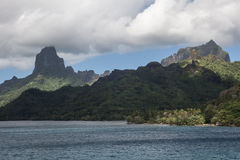 Rugged Landscape of the Island of Moorea Royalty Free Stock Image