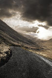 Rugged landscape with roadway Stock Photography
