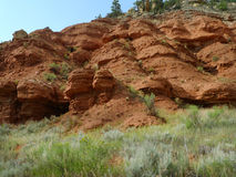 Rugged Landscape, rocky terrain, Northeast Wyoming Royalty Free Stock Photos