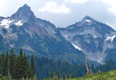 Rugged Mountain peaks Stock Images