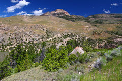 Rugged Mountain Scenery of Wyoming Royalty Free Stock Photos