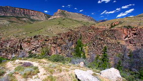 Rugged Mountain Scenery of Wyoming Royalty Free Stock Photo