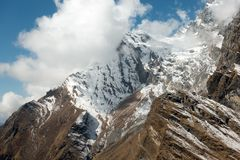 Rugged Mountain Slopes of the Himalayas Royalty Free Stock Photos