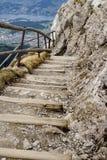 Rugged mountain trail. A rugged mountain trail path, mt. pilatus, switzerland Stock Photo