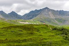 The Rugged Mountains of Alaska Surround Independence Mine stock images