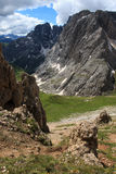 The rugged mountains of Antermoia Royalty Free Stock Images