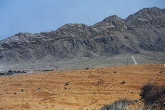 Rugged mountains in Dubai, UAE. Arid mountains in the heart of the desert, Dubai, UAE Royalty Free Stock Images