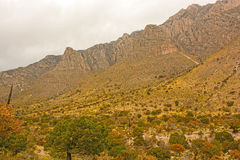 Rugged Mountains in a HIgh Desert Stock Image