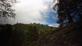 Rugged mountains of Idaho stock footage