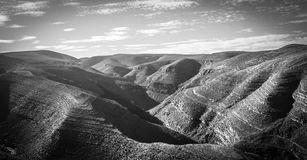 Rugged mountains. With interesting structure Royalty Free Stock Image