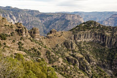 Rugged mountains in Mexico. Rugged mountains in the Copper Canyon, Chihuahua, Mexico Royalty Free Stock Image