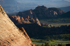 Rugged mountains near Zion National Park, Utah Royalty Free Stock Image