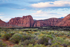 Rugged Mountains of Snow Canyon Stock Images
