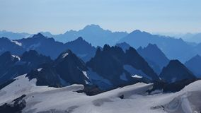 Rugged mountains, view from mount Titlis Stock Images