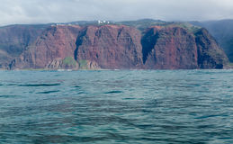 Rugged Na Pali coast from cruise Royalty Free Stock Photos