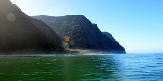 Rugged Napali Coastline of Kauai, Hawaii, USA. Stock Photography