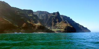 Rugged Napali Coastline of Kauai, Hawaii, USA. Royalty Free Stock Image