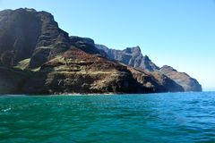 Rugged Napali Coastline of Kauai, Hawaii, USA. Royalty Free Stock Photos
