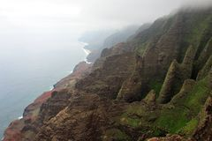 Rugged Napali Coastline of Kauai, Hawaii, USA. Royalty Free Stock Photo