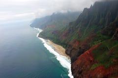 Rugged Napali Coastline of Kauai, Hawaii, USA. Stock Photos