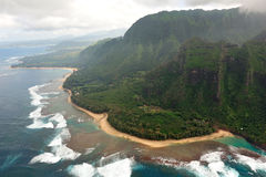 Rugged Napali Coastline of Kauai, Hawaii, USA. Royalty Free Stock Images