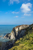 The rugged North Devon coast. This is the very rugged Morte Point in North Devon on the South West coast path in England Stock Photos