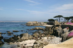 Rugged Pacific Coastline. The rugged Pacific Coast Highway Stock Photography