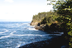 Rugged Pacific Northwest Coastline in Morning Light Stock Photo