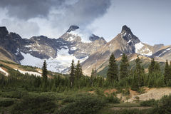 Rugged peaks in Canadian Rockies Royalty Free Stock Images