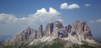 Rugged Peaks of Dolomites Stock Image