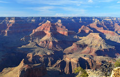 Rugged peaks and gorges of the Grand Canyon landscape at the South Rim, Arizona Royalty Free Stock Photos