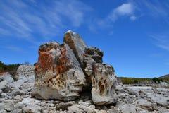 Rugged rocks Stock Image