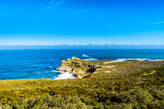 Rugged rocks and steep cliffs of the Cape of Good Hope Stock Photos