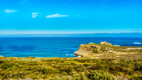 Rugged rocks and steep cliffs of the Cape of Good Hope Royalty Free Stock Image