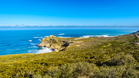 Rugged rocks and steep cliffs of the Cape of Good Hope Stock Photography