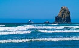 Rugged Rocky Arcadia Beach. On the Oregon Coast Stock Image
