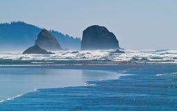 Rugged Rocky Arcadia Beach. On the Oregon Coast Royalty Free Stock Image