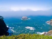 Rugged Rocky Coastline on the Oregon Coast stock photo