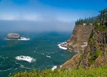 Rugged Rocky Coastline on the Oregon Coast stock images