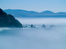 Rugged Rocky Coastline on the Oregon Coast Stock Photography