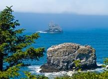 Rugged Rocky Coastline on the Oregon Coast royalty free stock photo
